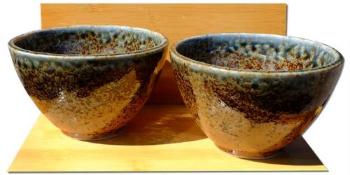 Rock Pool ceramic bowls Japanese for two